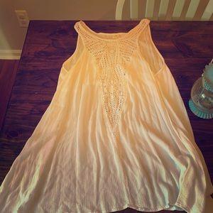 O'Neill white crochet beach coverup dress